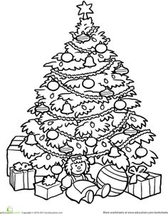 236x301 Christmas Tree Coloring Page