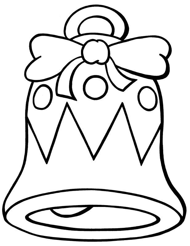 617x800 Bell Pictures To Color Bell Coloring Page Free Christmas Coloring