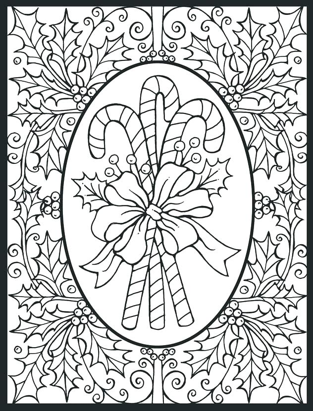 632x830 Difficult Christmas Coloring Pages Difficult Coloring Pages Hard