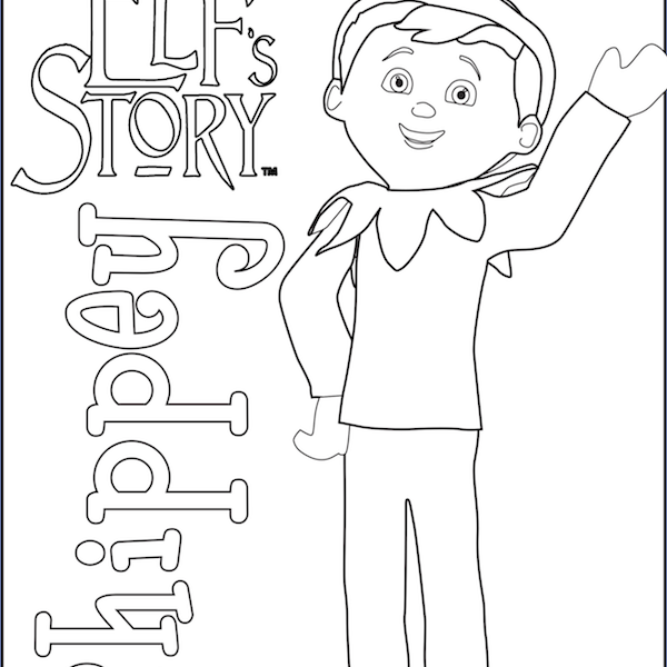 600x600 Elf On The Shelf Girl Coloring Pages Coloring Page