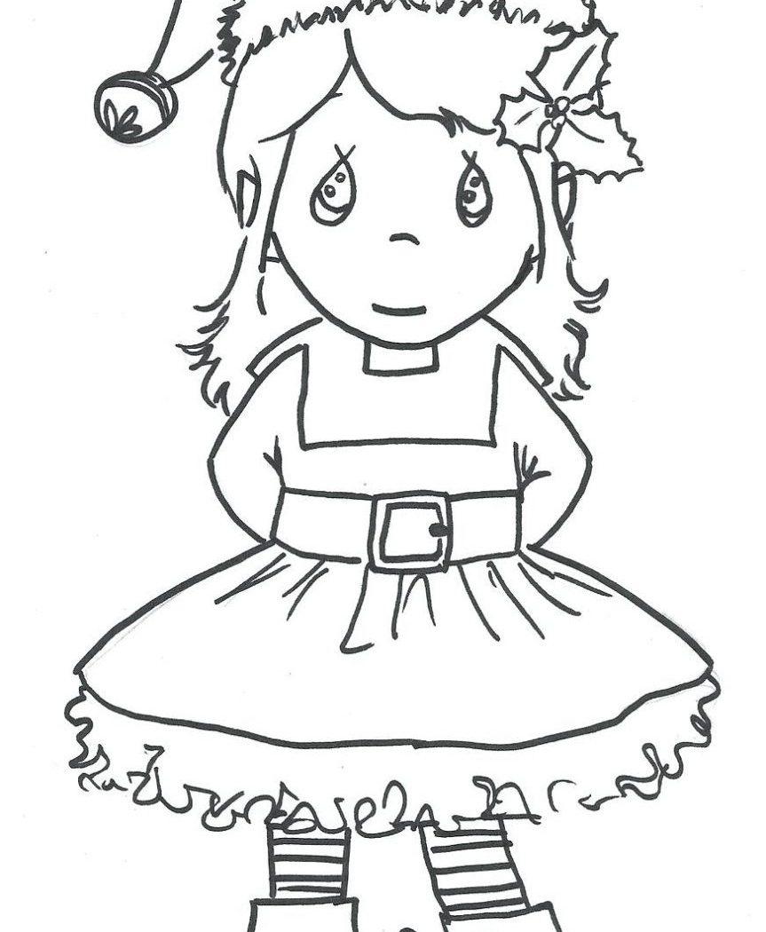 863x1050 Free Elf Coloring Page Printable Nice Christmas Pages On The Shelf