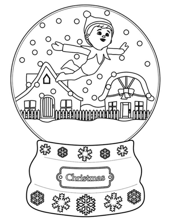 600x775 Christmas Coloring Pages Elves, Shelves And Free