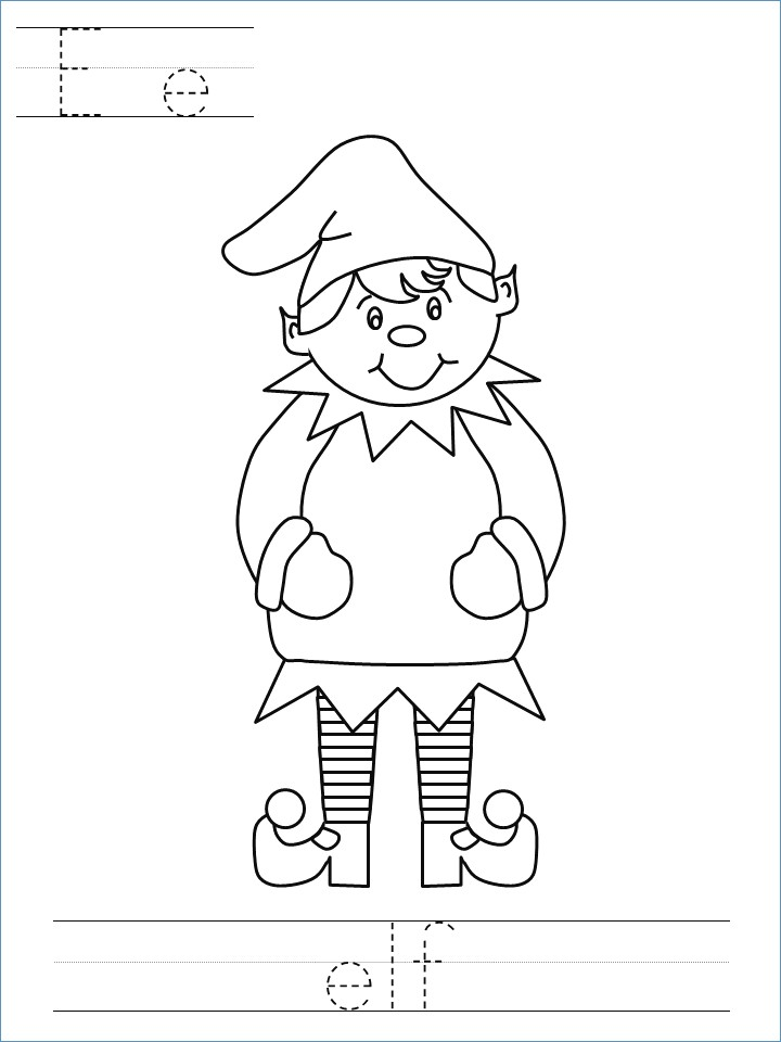 720x960 Christmas Elf Coloring Page