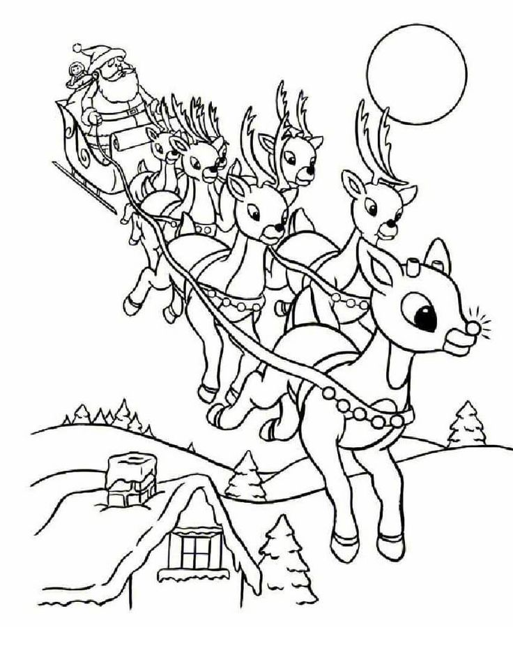 736x952 Best Christmas Coloring Pages Images On Christmas