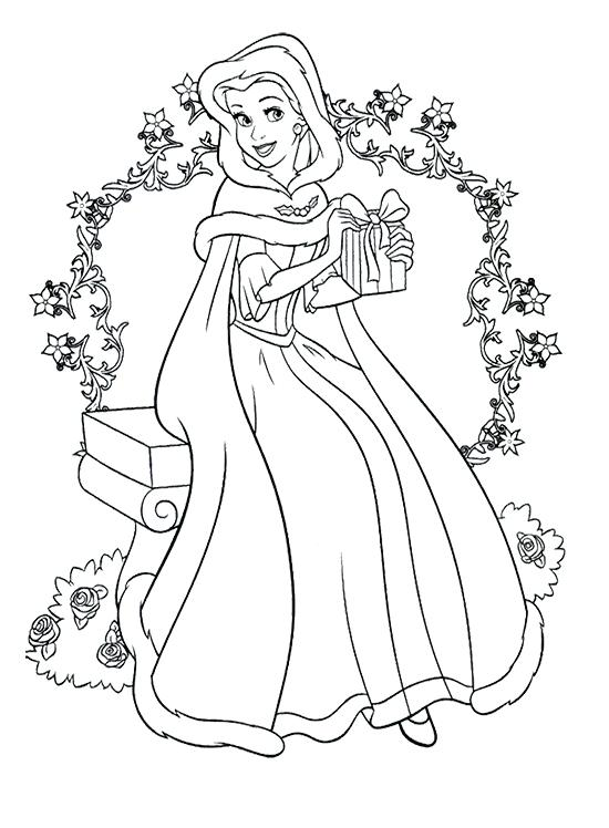 550x748 Free Christmas Coloring Pages For Kids Princess Coloring Pages