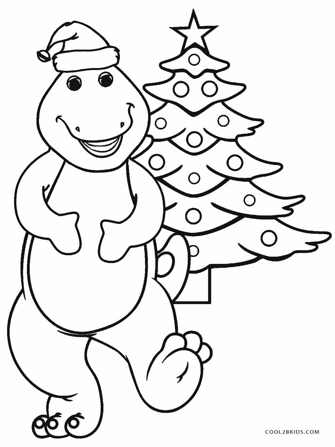 690x920 Barney Christmas Coloring Pages