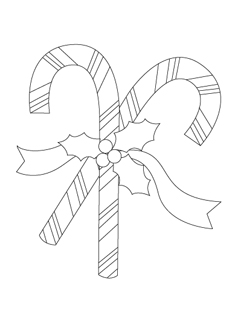 238x320 Printable Christmas Coloring Pages