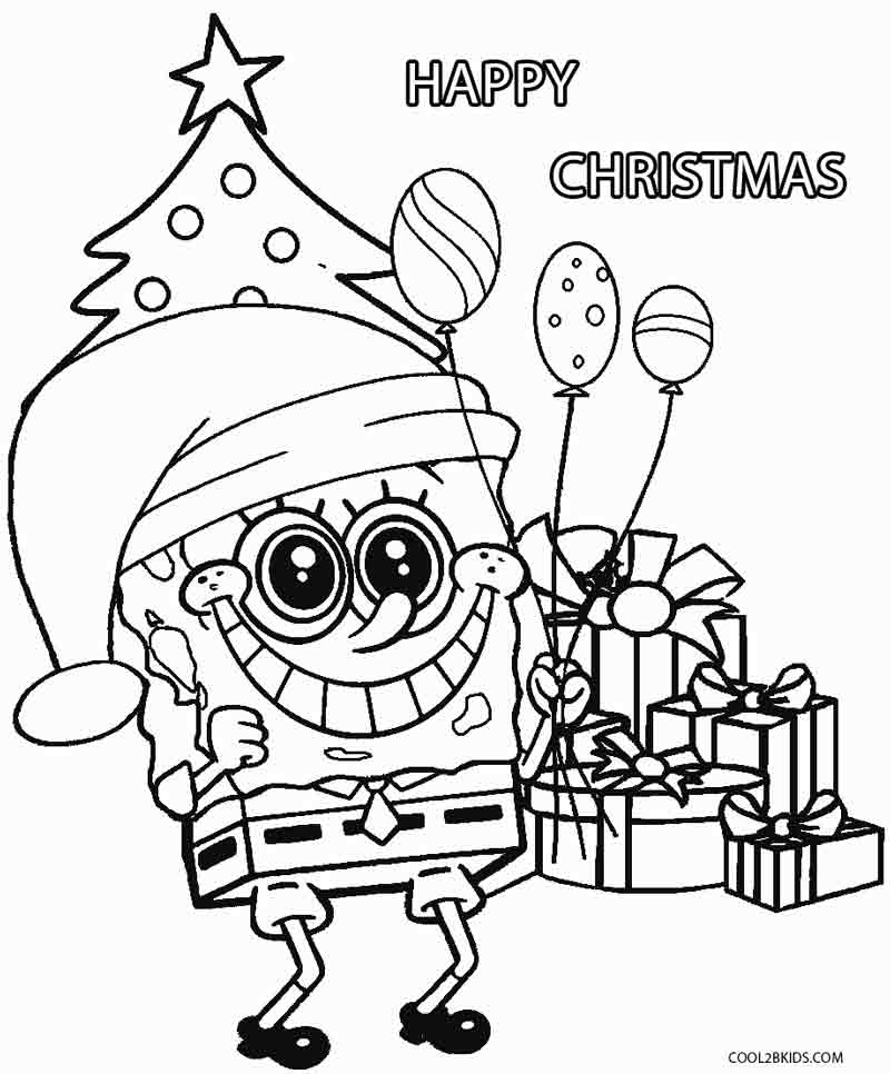 800x966 Spongebob Christmas Coloring Pages To Print Christmas Spongebob