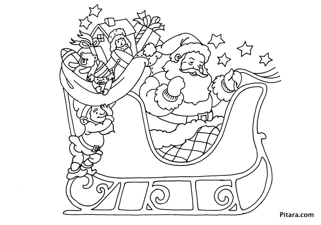 1068x748 Christmas Coloring Pages For Kids Pitara Kids Network