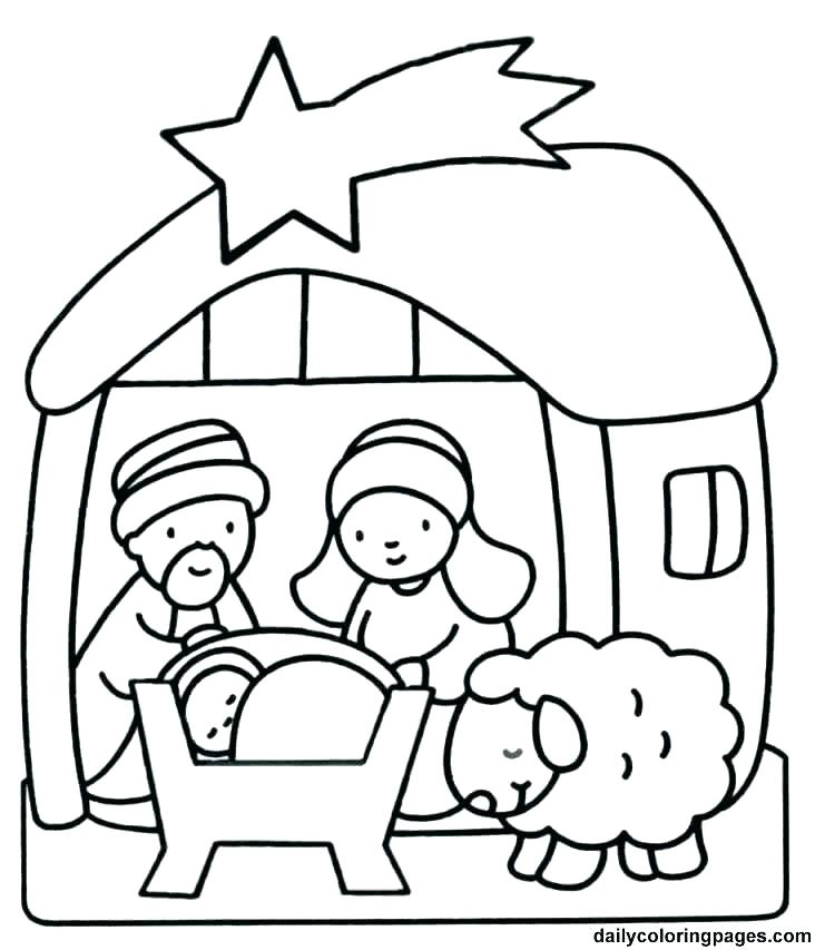 732x853 Free Christmas Color Pages Coloring Pages For Kindergarten