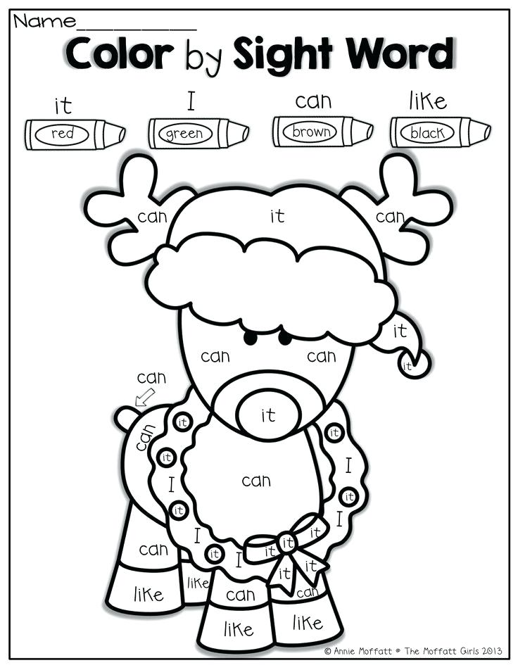 736x952 Sight Word Christmas Coloring Sheets Free Sight Word Coloring