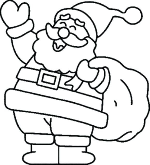 580x638 Christmas Coloring Pages For Kindergarten Easy Christmas Coloring