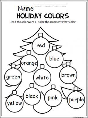 Christmas Coloring Pages For Kindergarten Students
