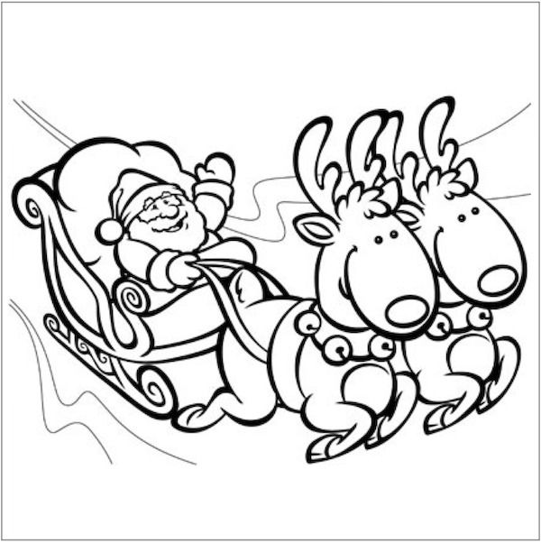 600x602 Christmas Coloring Pages Christmas Colors, Santa And Celebrating