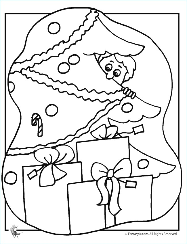650x845 Little Girl Decor Christmas Tree Christmas Coloring Page