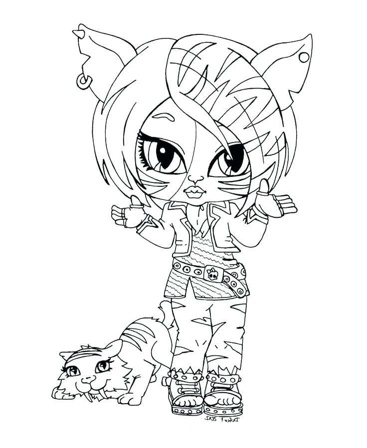 736x899 Monster High Christmas Coloring Pages New Little Kids Coloring
