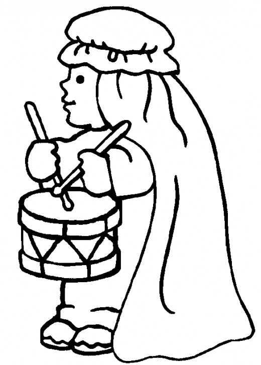 520x727 The Little Drummer Boy Coloring Page The Little Drummer Boy