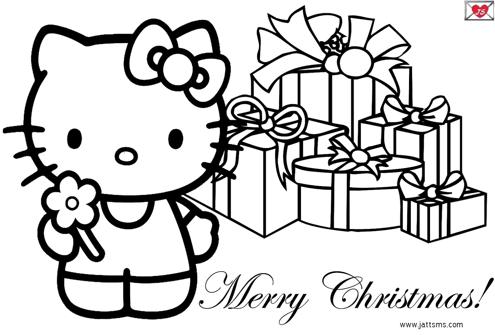1600x1084 Printable Merry Christmas Coloring Pages For Kids Color Bros