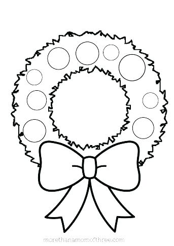 343x485 Preschool Christmas Coloring Pages Coloring Pages Preschool Wreath