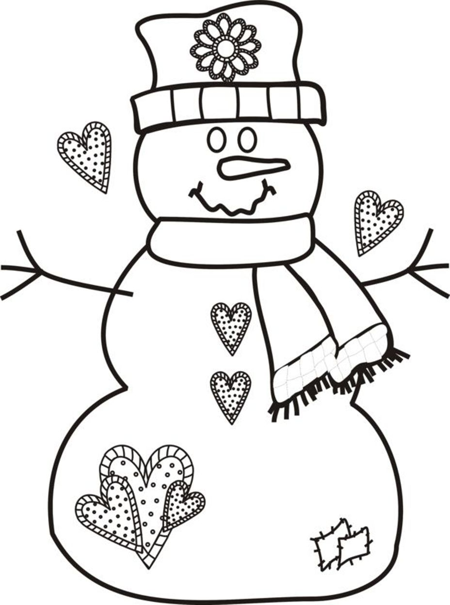 928x1248 Christmas Coloring Pages For Preschoolers