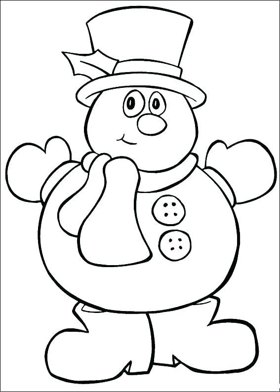 567x794 Preschool Christmas Coloring Sheets
