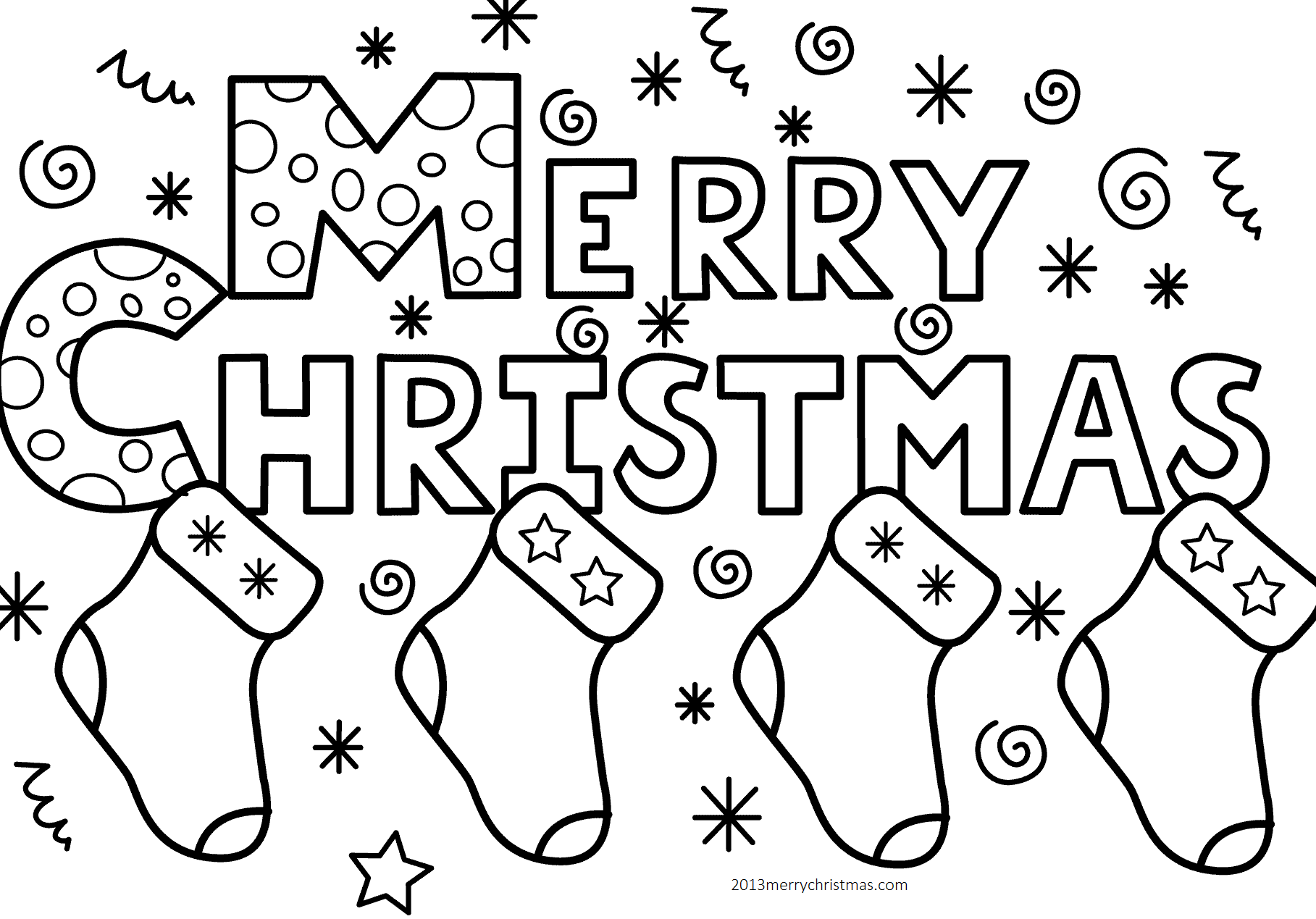 1817x1269 Best Christmas Coloring Pages For Preschoolers And Toddlers