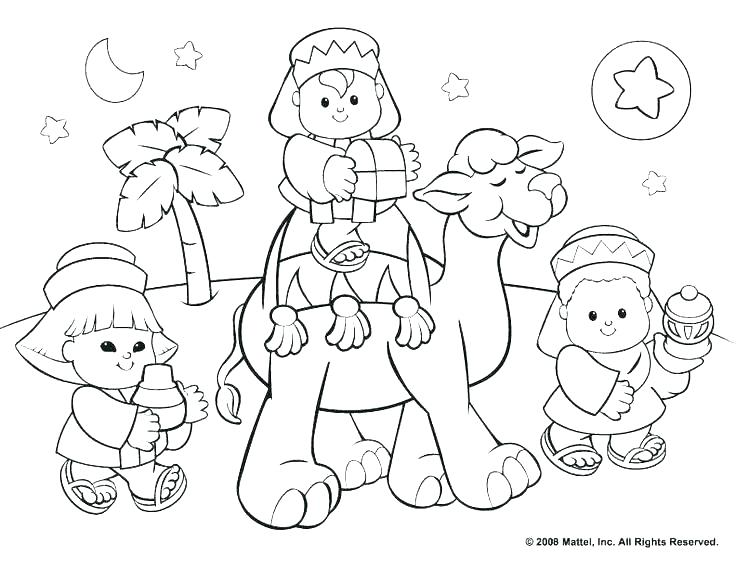 736x568 Childrens Christmas Coloring Pages