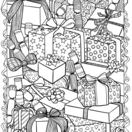 Christmas Coloring Pages Free For Kids At Getdrawings Com