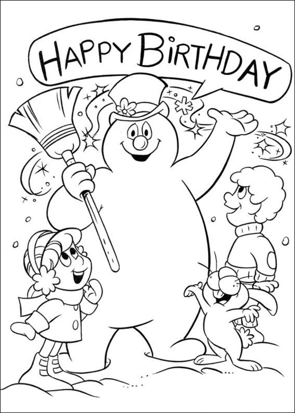 600x840 Frosty The Snowman Christmas Coloring Pages