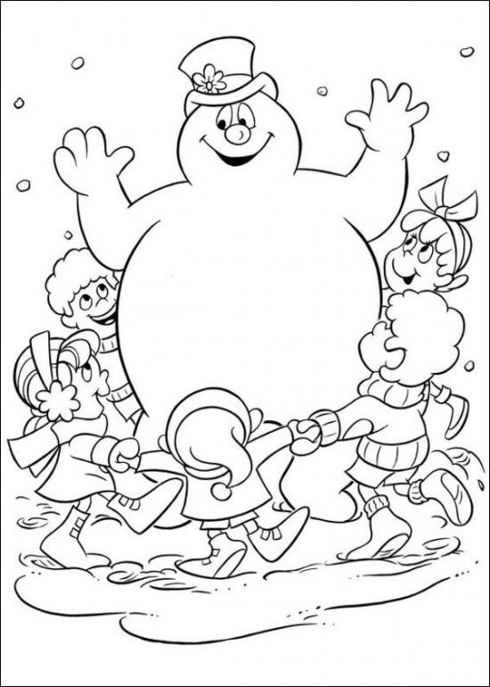 550x770 Printable Coloring Pages Of Frosty The Snowman Picture