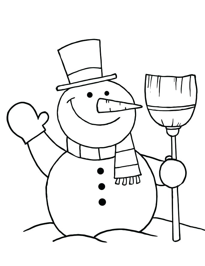 685x886 Snowman Color Page Beautiful Printable Winter Coloring Pages