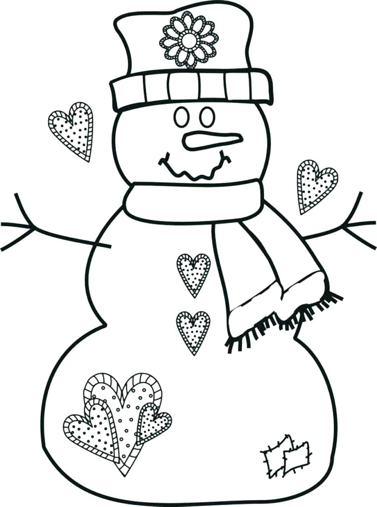 761x1024 Snowman Coloring Pages Printable Frosty Coloring Pages Free