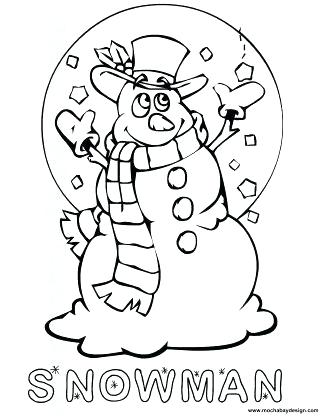 325x420 Christmas Snowman Coloring Pages Coloring Sheet Of Kids
