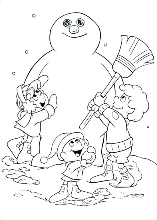 550x770 Christmas Coloring Pages Frosty The Snowman