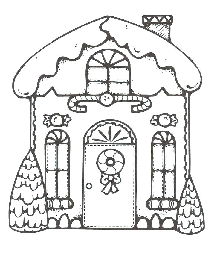 736x915 Coloring Pages Gingerbread House Mde Cndy Grndkids Celebrte Seson