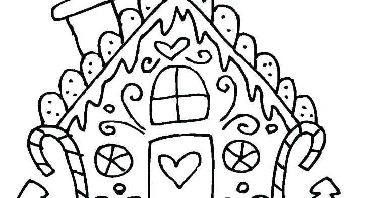 728x393 Coloring Pages Of Gingerbread Houses Christmas Colouring Pages