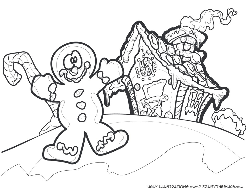1036x800 Unique Christmas Coloring Pages Disney Gingerbread House Gallery