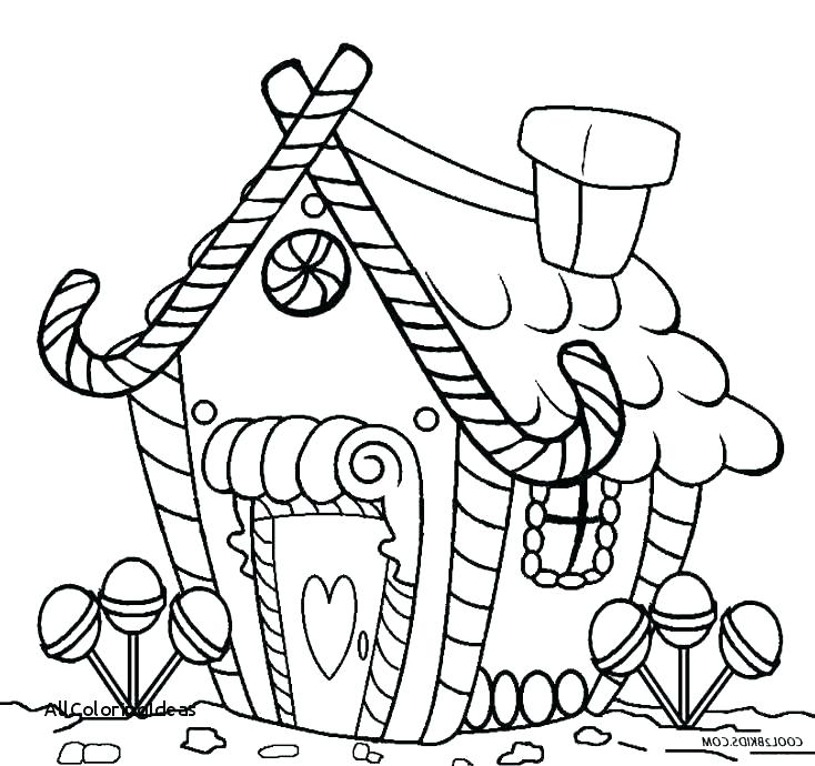 734x690 Christmas Coloring Pages Gingerbread House Coloring Pages