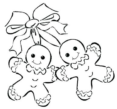 387x360 Coloring Pages Gingerbread Man Gingerbread Man Color Page