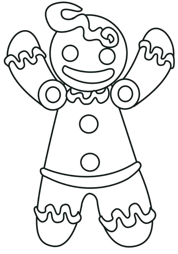 618x878 Coloring Pages Gingerbread Man New Blank Gingerbread Man Coloring