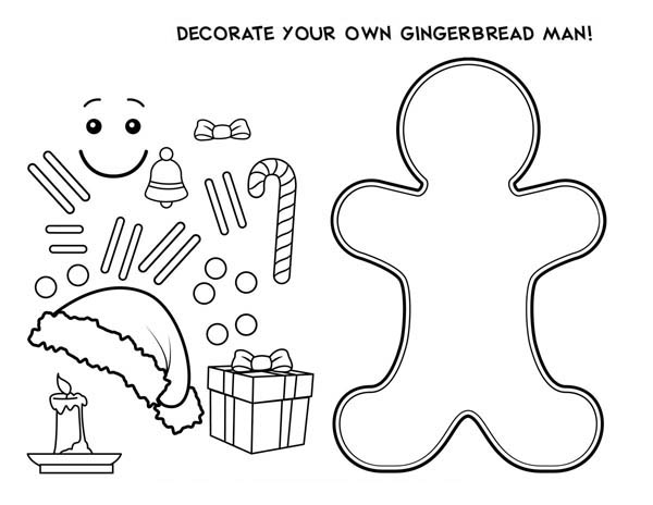 600x464 Decorate Your Own Mr Gingerbread Men For Christmas Coloring Page