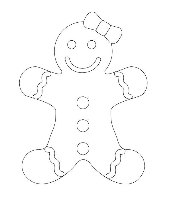 600x779 Gingerbread Man Coloring Page Gingerbread Man Coloring Page