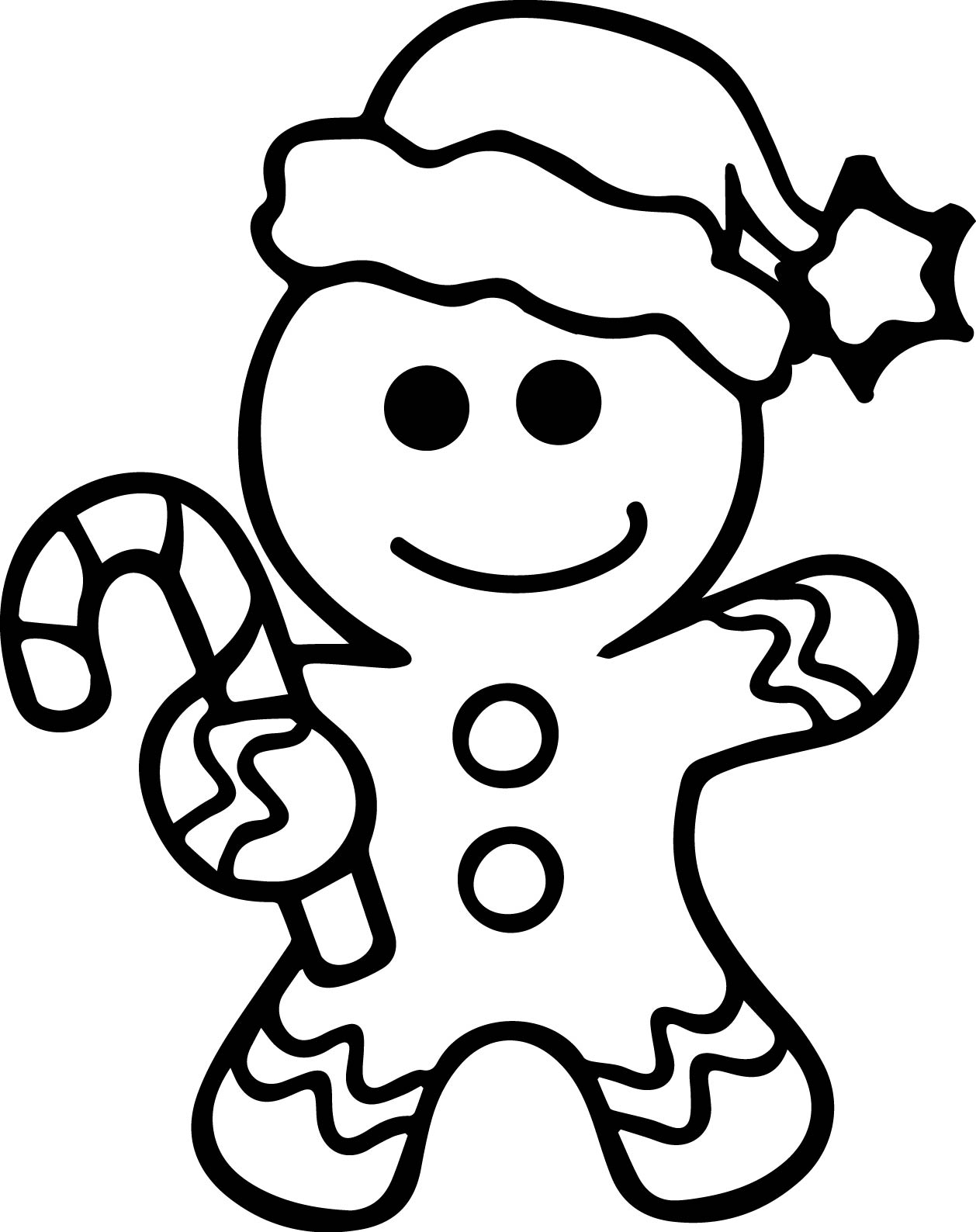1258x1588 Gingerbread Man Coloring Page Pages Captivating
