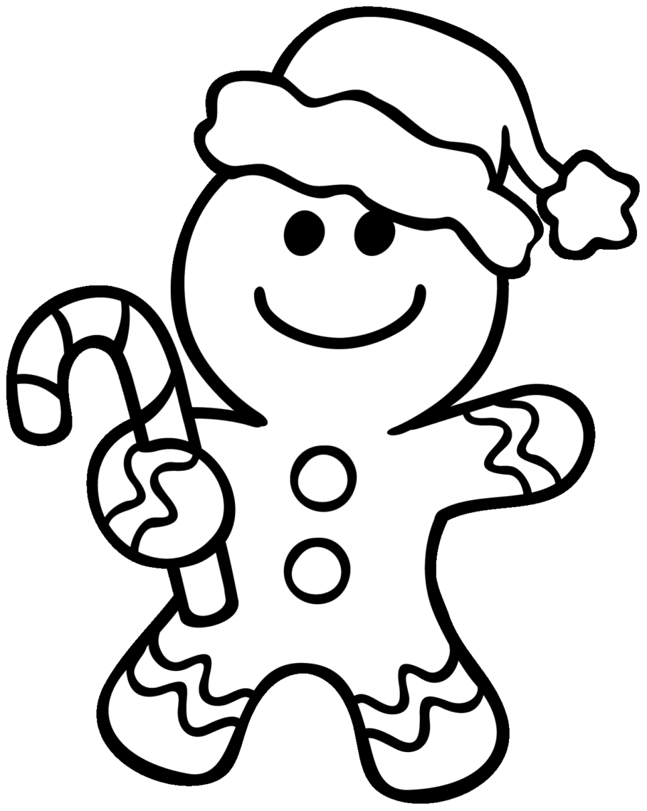 909x1140 Coloring Pages Christmas Gingerbread Man