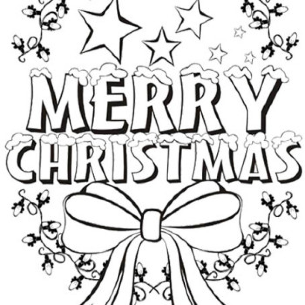 Christmas Coloring Pages Merry Christmas