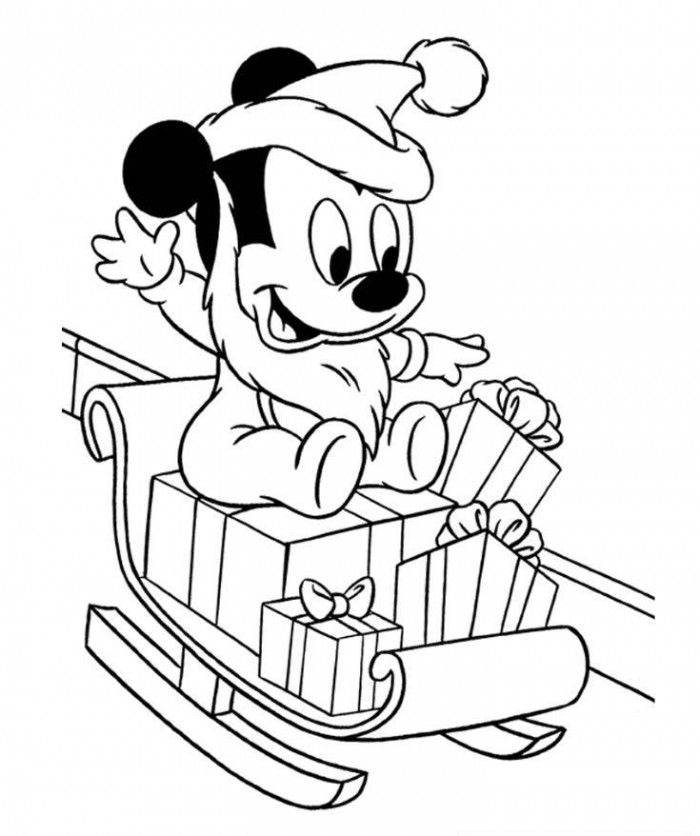 700x836 Mickey Mouse Christmas Coloring Pages Cartoons Free Coloring Pages