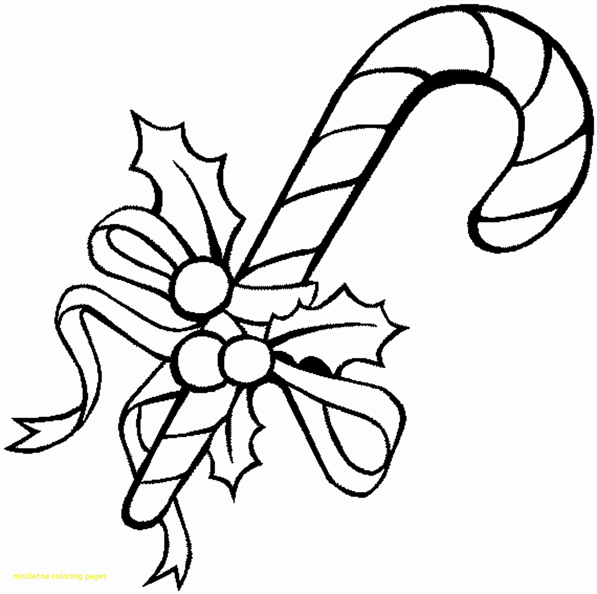 Christmas Coloring Pages Mistletoe