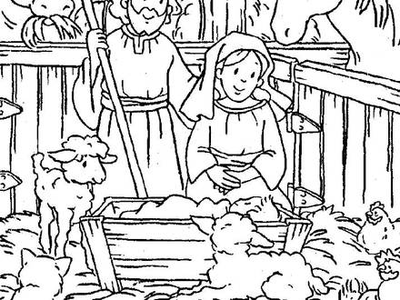 440x330 Baby Jesus In A Manger Drawing Images Pictures Becuo, Baby Jesus