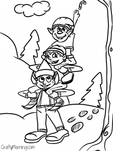 Christmas Coloring Pages Of Elves At Getdrawings Com Free For