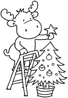 Christmas Coloring Pages Of Reindeer